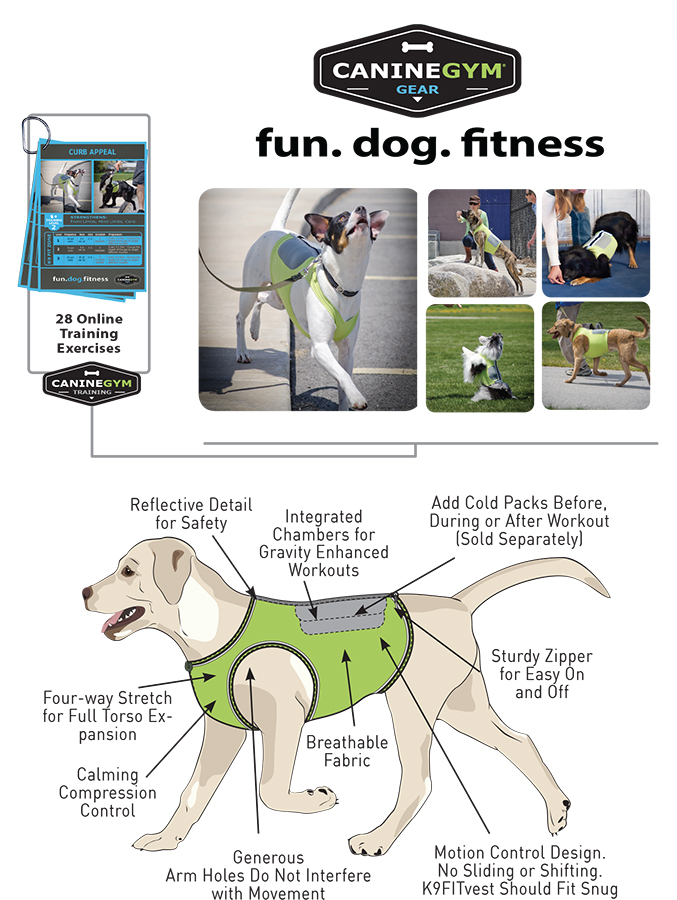K9FITvest 0 4 vests in one for Dog Fitness, Cooling, Safety, and Calming